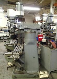 Bridgeport Series 1 Mill 1 5 Hp Shaper Head Power Feed Collets