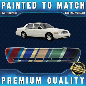 New Painted To Match Front Bumper Cover Fascia For 1998 2011 Ford Crown Victoria