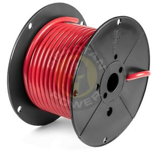 50 Feet Red 1 0 Awg Battery Cable By Spartan Power Made In The Usa Ul Listed