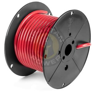 50 Feet Red 2 0 Awg Battery Cable By Spartan Power Made In The Usa Ul Listed