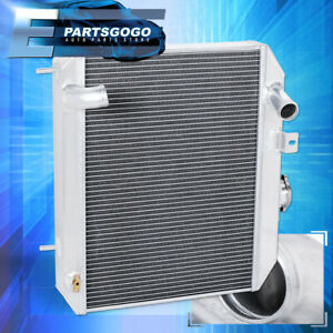 For 41 52 Ford Gpw Jeep Willys Mb Truck Tri core row Aluminum Racing Radiator