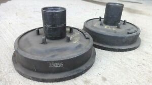 Nos 1960s 1970s Dodge Truck 4x4 Front Brake Drums Hubs 5 Lug Original 48 Splines