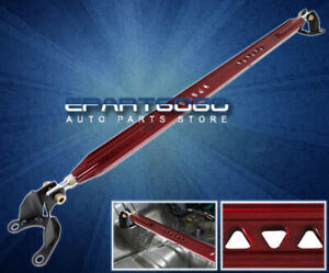 2008 2015 Mitsubishi Lancer Jdm Aluminum Strut Tower Rear Upper Bar Brace Red