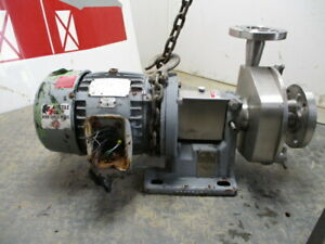 Used Fristam Fp1741 190 Stainless Steel Sanitary Centrifual Pump 5 Hp Motor