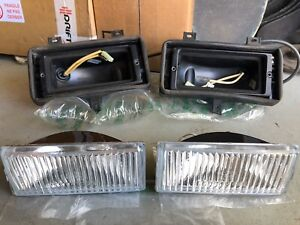 Bmw E30 Early Model Euro Fog Lights Foglights With Brackets Hella Zkw Nos 325