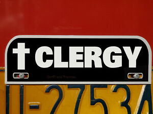 Clergy License Plate Topper