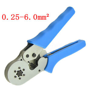 Terminal Crimping Tool Adjustable Ratcheting Ferrule Wire End Cord Crimper