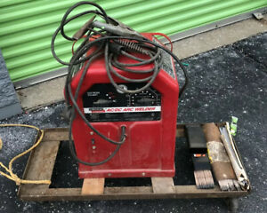 Lincoln Electric Welder Ac dc 225 125 Arc Welder W cart And Rods