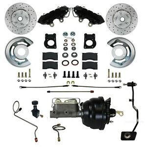 67 68 69 Mustang Cougar Comet Front Disc Brake Conversion Black Powder Coat