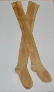 Vintage Pair Long Cotton Grungy Socks Primitive High Top Stockings Tall