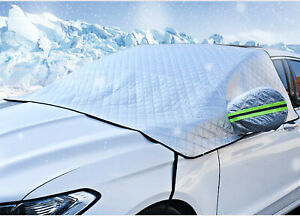 Car Windshield Snow Cover Waterproof With Mirror Cover All Weather Protection
