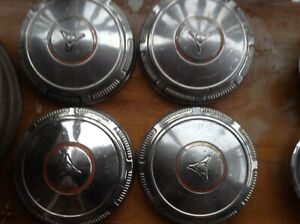 Vintage 1969 74 Dodge Plymouth 4 Dog Dish Poverty Hubcaps Wheel Covers