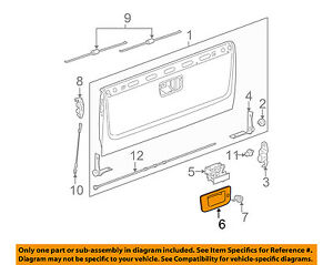 Gm Oem Tail Gate Tailgate Hatch handle Bezel 22755302