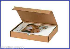 50 Pack Kraft Corrugated Literature Mailer Shipping Boxes 42 Sizes Available
