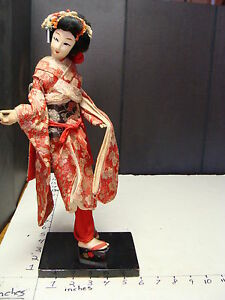 Antique Oriental Japanese Doll 14 1 2 Tall Doll V Beautiful Outfit Big Shoes