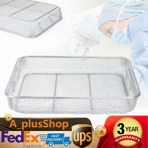 Stainless Steel Sterilization Tray Case Basket Surgical Instrument Mesh Frame