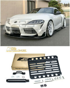 Eos Plate For 2020 Up Toyota Supra Front Bumper Tow Hook License Mount Bracket
