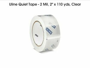6 Rolls Uline s 15564 Quiet Tape 2 X 110 Yards 2 Mil Clear free Shipping