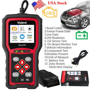 Vident Ieasy320 Eobd Obd2 Fault Code Reader Scanner Auto Check Engine Like Nt301