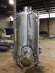 Stainless Steel 300 Gallon Insulated Sanitary Storage Tank W Level Indicator