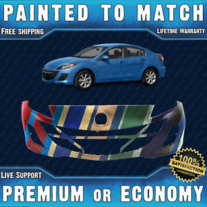 New Painted To Match Front Bumper Cover Replacement For 2010 2011 Mazda 3 2 0l