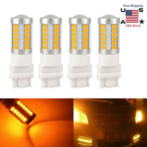 Amber 33smd 3157 3457 3057 Signal 33smd Backup Reverse Tail Turn Led Light Bulbs
