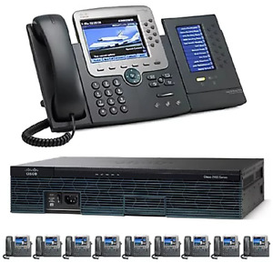 The 10 Office Ten Gigabit Color Pbx Telephone System Sip Analog Isdn Pri