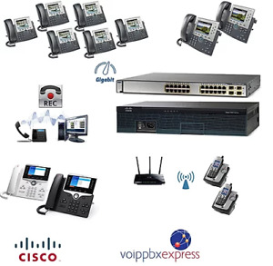The 12 Premium Cisco Ip Pbx Phone System With 8800 Phones Recorder Wireless