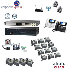 The 20 Premium Cisco Ip Pbx Phone System With 8800 Phones Recorder Wireless