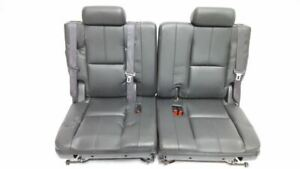Third Row Seats Black Leather Oem 2008 Gmc Yukon