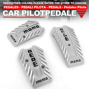 Universal Manual Mt Racing Sport Truck Car Non slip Pedals Pad Cover Set Silver