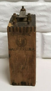 Antique Brass Kw For Ford Model T Or Model A Wood Battery Box Ignition Coil