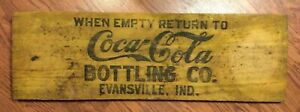 Early 1900's coke Coca-Cola Sign From Evansville  Indiana