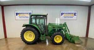 2002 John Deere 6320 Cab Tractor Loader With Ac heat 4x4