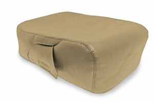 Fits 2007 2013 Chevrolet Silverado Pvc Leather Console Lid Jump Seat Cover Beige
