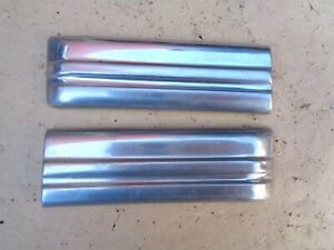 1941 Chevy Cowl Stainless Trim Moldings Original Pair Special Master Deluxe