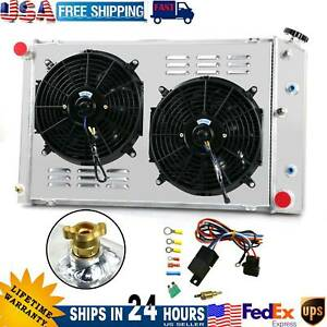 3 Row Aluminum Radiator Shroud Fan For Chevy Camaro 1970 81 Monte Carlo 1978 87