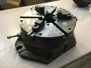 Hartford Cushman Special Super Spacer 12 Rotary Table 3 Jaw Chuck