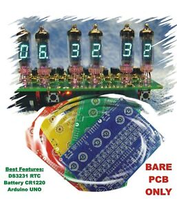 No Parts Bare Color Pcb Only Iv 3 Iv 6 For 6x Vfd Tubes Arduino Clock Shield