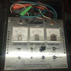 Annie Hermetic Unit Component Analyzer Model A 12 Used