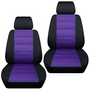 Front Set Car Seat Covers Fits Nissan Sentra 2002 2020 Black And Purple