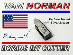 Van Norman Usa Boring Bar Bit 944s 777s 3 8 V Re Sharpnable Carbide Tippd