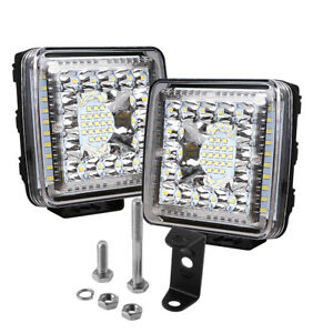 2x 880w 4 4inch Led Work Lights Pod Spot Flood Combo Offroad Driving Light