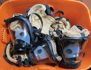 Survivair Sperian Scba Fire Rescue Respirator Mask W Amplifier 10 Masks