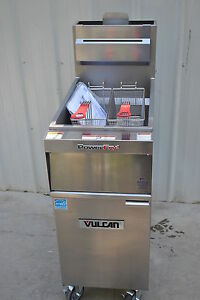 New Vulcan 1tr45a Solid State Natural Gas Fryer 70 000btu