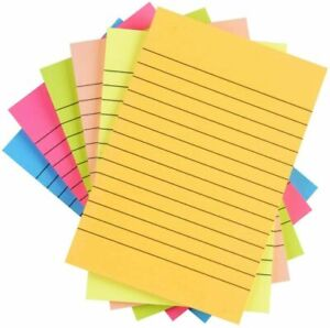 Sticky Notes Colorful Lined Post Memos 4 X 6 Removable Self Sticky Notes Pad