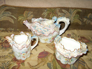 Doulton Burslem Tea Set Circa 1880 1901 Victorian High Tea Treasure