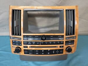 04 05 Infiniti Fx35 Fx45 Cd Radio Player Navi Climate Control Panel Bezel Oem