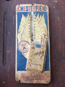 Vintage Chesterfield Cigarette Thermometer
