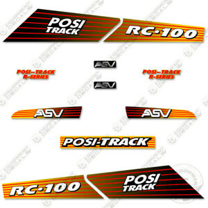 Asv Rc 100 Decal Kit Skid Steer Replacement Stickers Equipment Decals rc 100
